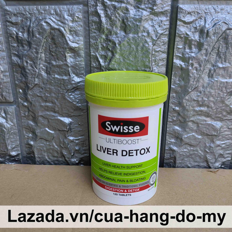 Viên Uống Hỗ Trợ Thải Độc Gan Swisse Liver Detox Úc 120 viên cao cấp