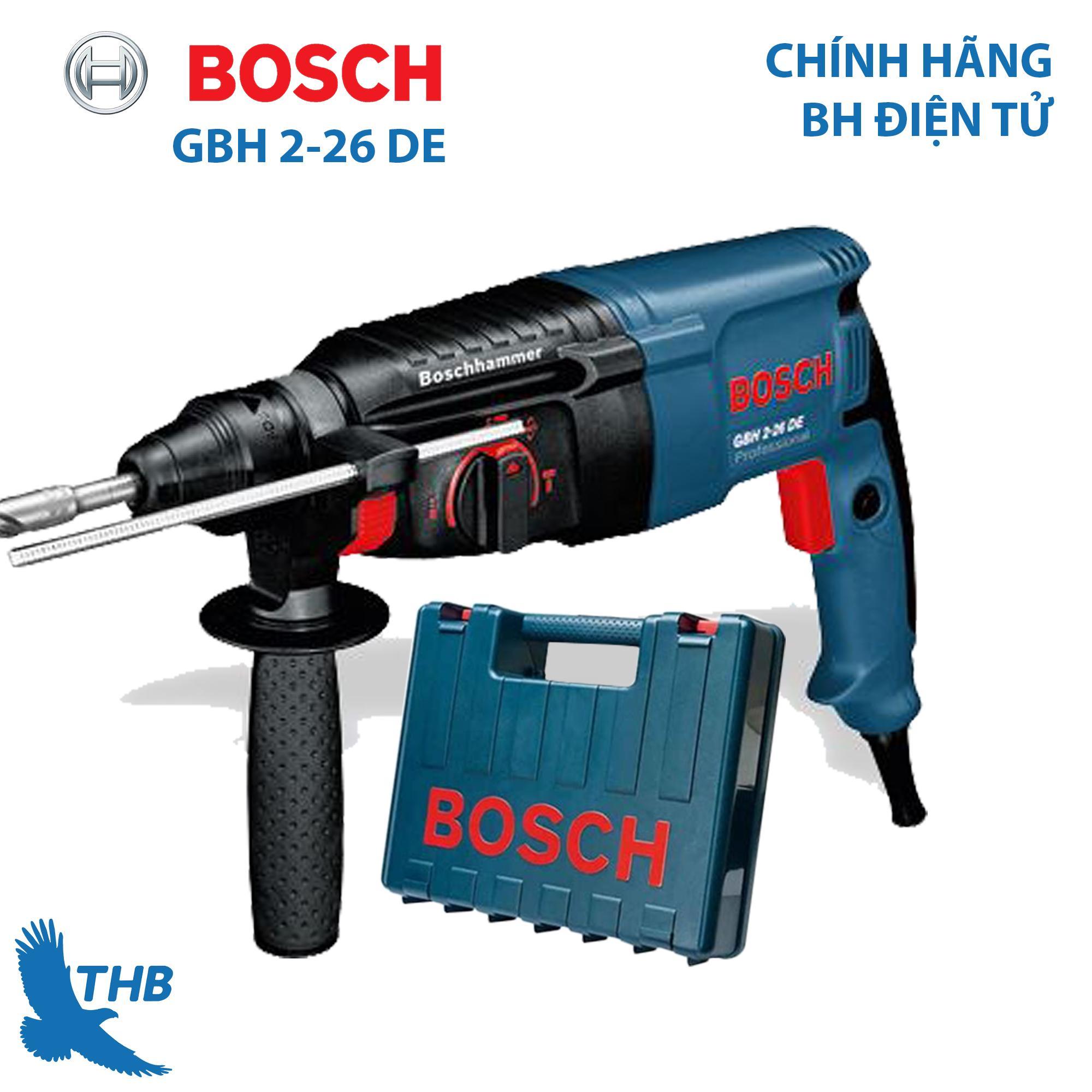 Máy khoan búa Máy khoan bê tông Bosch GBH 2-26 DE công suất 800W mũi khoan bê tông max 26mm Bảo hành 12 tháng