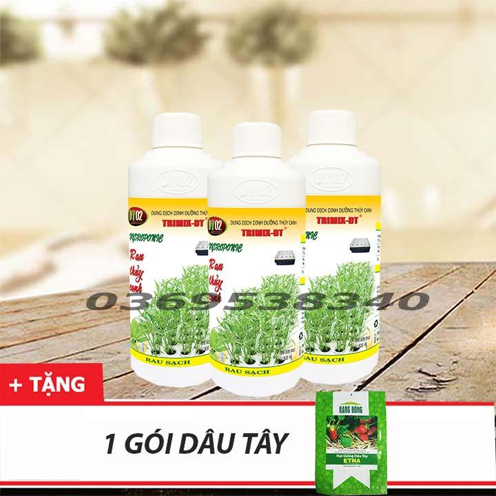 COMBO 3 CHAI dung dịch thủy canh 500ml
