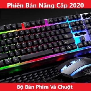 Bộ Bàn Phím GAMING G21 LED + Tặng Chuột Giả Cơ đèn LED 7 MÀU SIÊU ĐẸP NEW 2020 Bản Cao Cấp , bàn phim game , bàn phím máy tính , chuột máy tính , phụ kiện máy tính ,thiết bị game , chuột game , bàn phím thumbnail