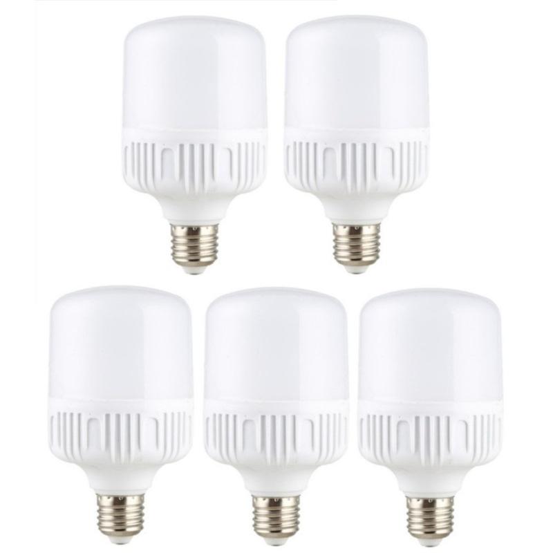 Bộ 5 bóng đèn Led Trụ 40W Công Suất Cao - Phòng khách (Trắng)
