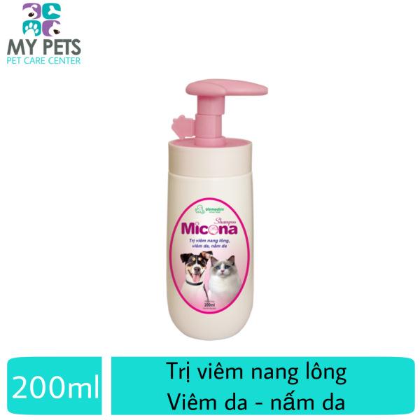 Sữa tắm chuyên ngừa viêm da, nấm da, dưỡng lông siêu mượt cho chó mèo (VMD) - shampoo Micona 200ml