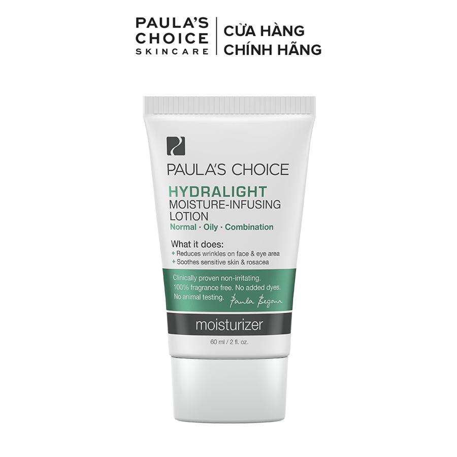 Kem dưỡng ẩm nhanh chóng dành cho mọi loại da Paula's choice Hydralight Moisture Infusing Lotion 60ml