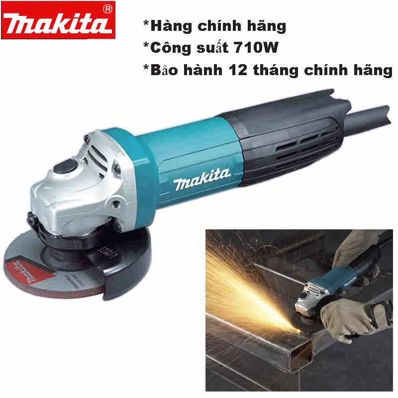 Máy mài Makita 9553nb Công suất 710W Động cơ mãnh mẽ Cửa hàng chính góc nhận cung cấp máy mài cắt cho công trình lớn.