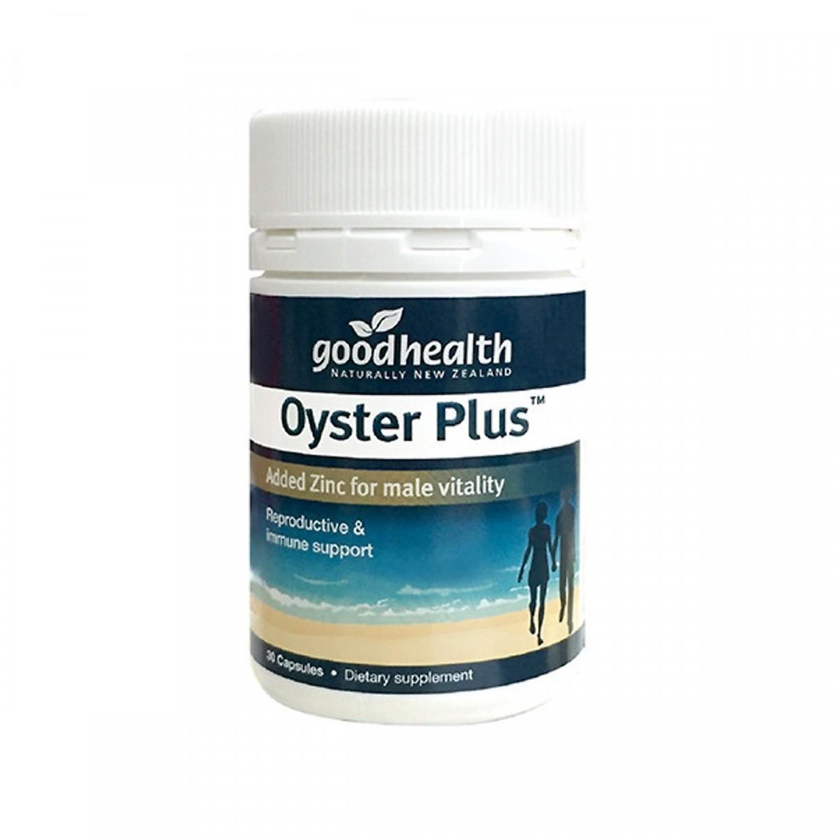 Tinh Chất Hàu Biển New Zealand GoodHealth Oyster Plus Hỗ trợ tăng cường sức khỏe nam giới (30 viên) - Nhập khẩu New Zealand chính hãng