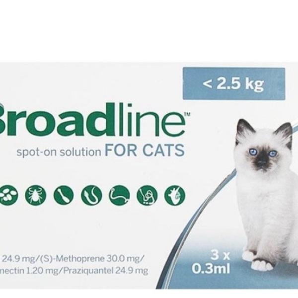 1 Tuyp Nhỏ gáy trị ve rận bọ chét cho Mèo Broadline 2.5kh