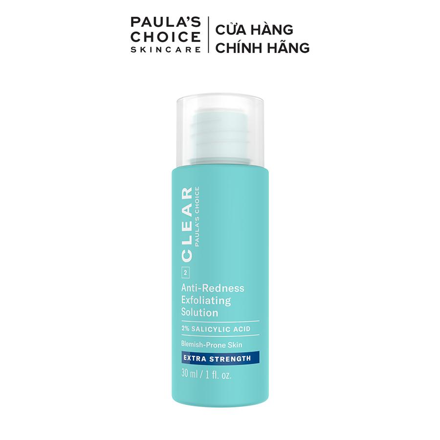 Dung dịch tẩy da chết ngăn ngừa mụn sưng viêm chuyên sâu Paula's Choice Clear Extra Strength Anti-Redness Exfoliating Solution 30 ml