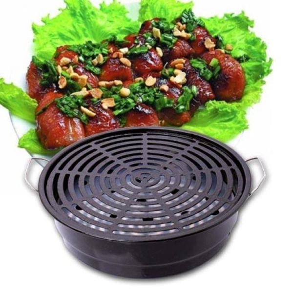 Bếp nướng than inox tráng men chống dính loại lớn cao cấp (hàng xuất khẩu Châu Âu)