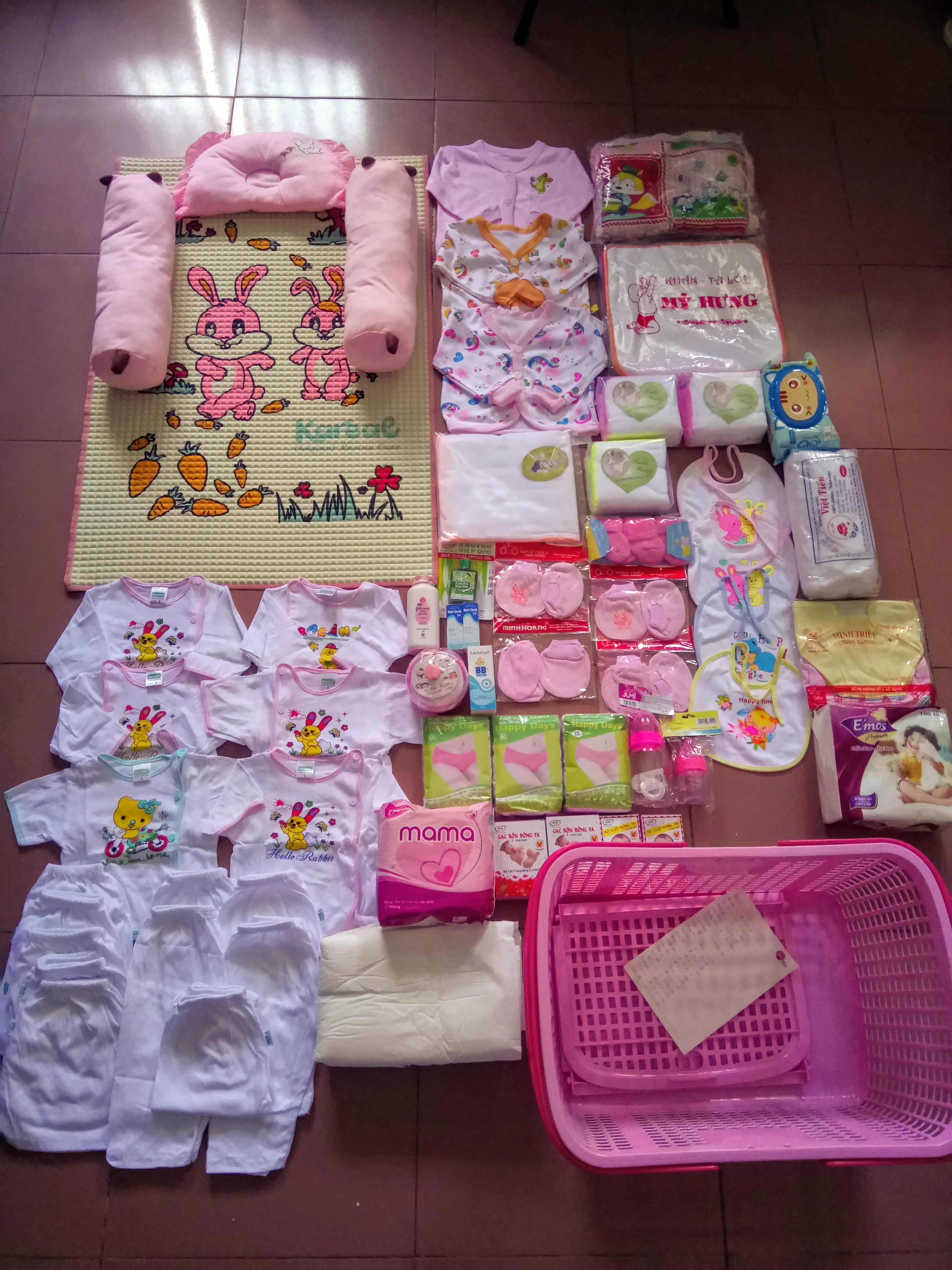 Trọn gói đồ đi sinh cho bé gái, bé trai - Ánh Dương
