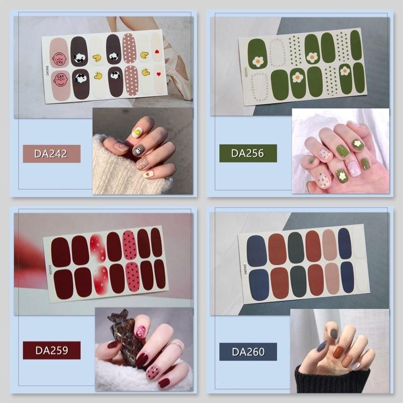 STICKER dán móng tay THẾ HỆ MỚI phong cách Hàn Quốc trang trí 3D - P1