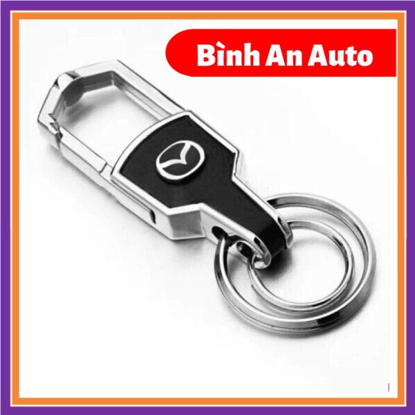 Móc chìa khóa ô tô da cao cấp logo hãng Mazda