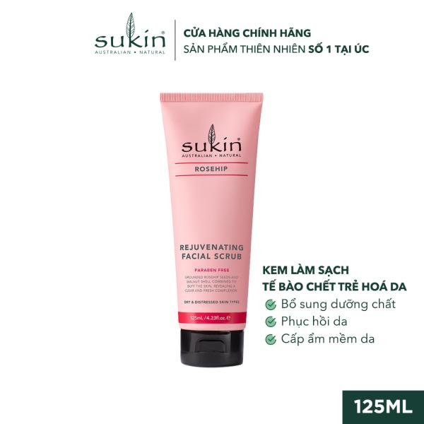 Kem Làm Sạch Tế Bào Chết Da Mặt Tầm Xuân Sukin Rosehip Rejuvenating Facial Scrub 125ml giá rẻ