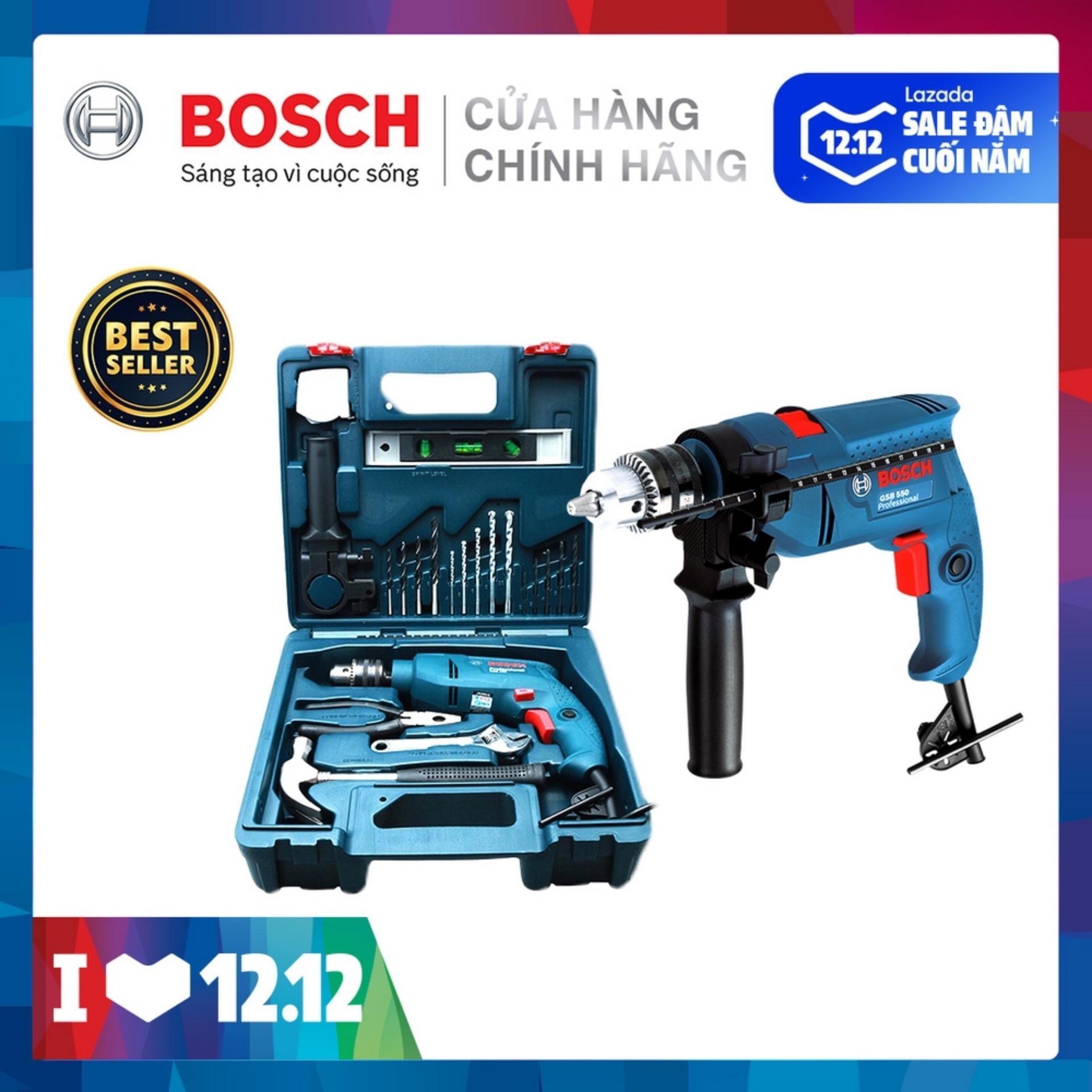 Coupon Khuyến Mại Bộ Máy Khoan động Lực Bosch GSB 550 MP SET 19 Chi Tiết
