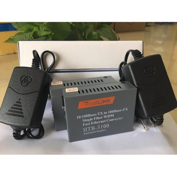 Bảng giá Bộ chuyển đổi quang điện Netlink HTB-3100 Single-Mode Chuẩn 1 sợi quang 25KM Phong Vũ