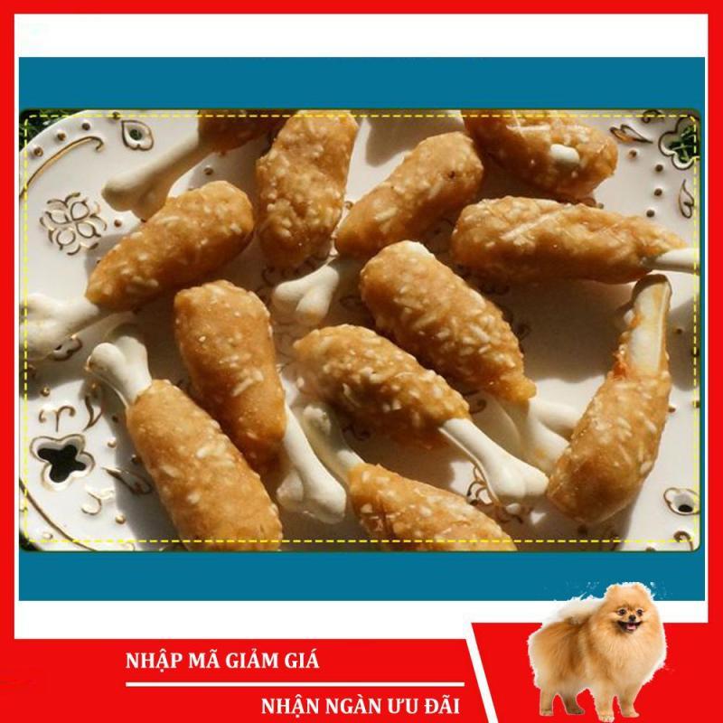Bánh thưởng cho chó Sumiho (Đùi gà bọc xương sữa) (100gr/túi) Đồ ăn cho chó mèo thú cưng