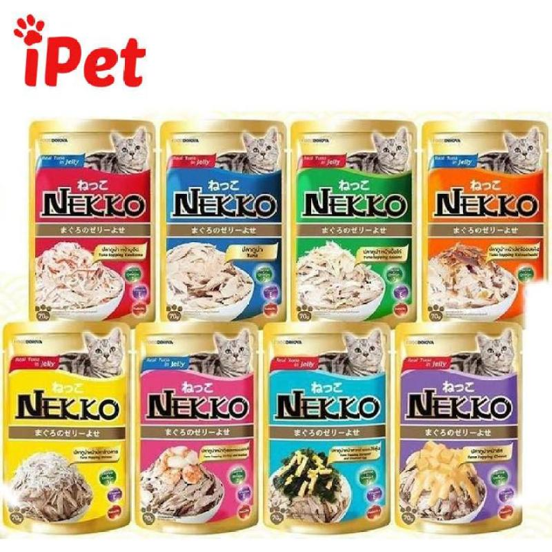 Thức Ăn Cho Mèo Lớn Nhỏ Nekko Dạng Thạch - iPet Shop