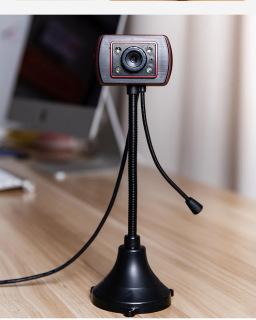 (Bảo hành 06 tháng) Webcam Chân Cao có mic dùng cho máy tính có tích hợp mic và đèn Led trợ sáng - Webcam máy tính để bàn siêu nét thumbnail