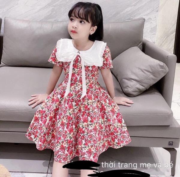 Giá bán Váy tiểu thư cổ vuông xinh cho bé gái