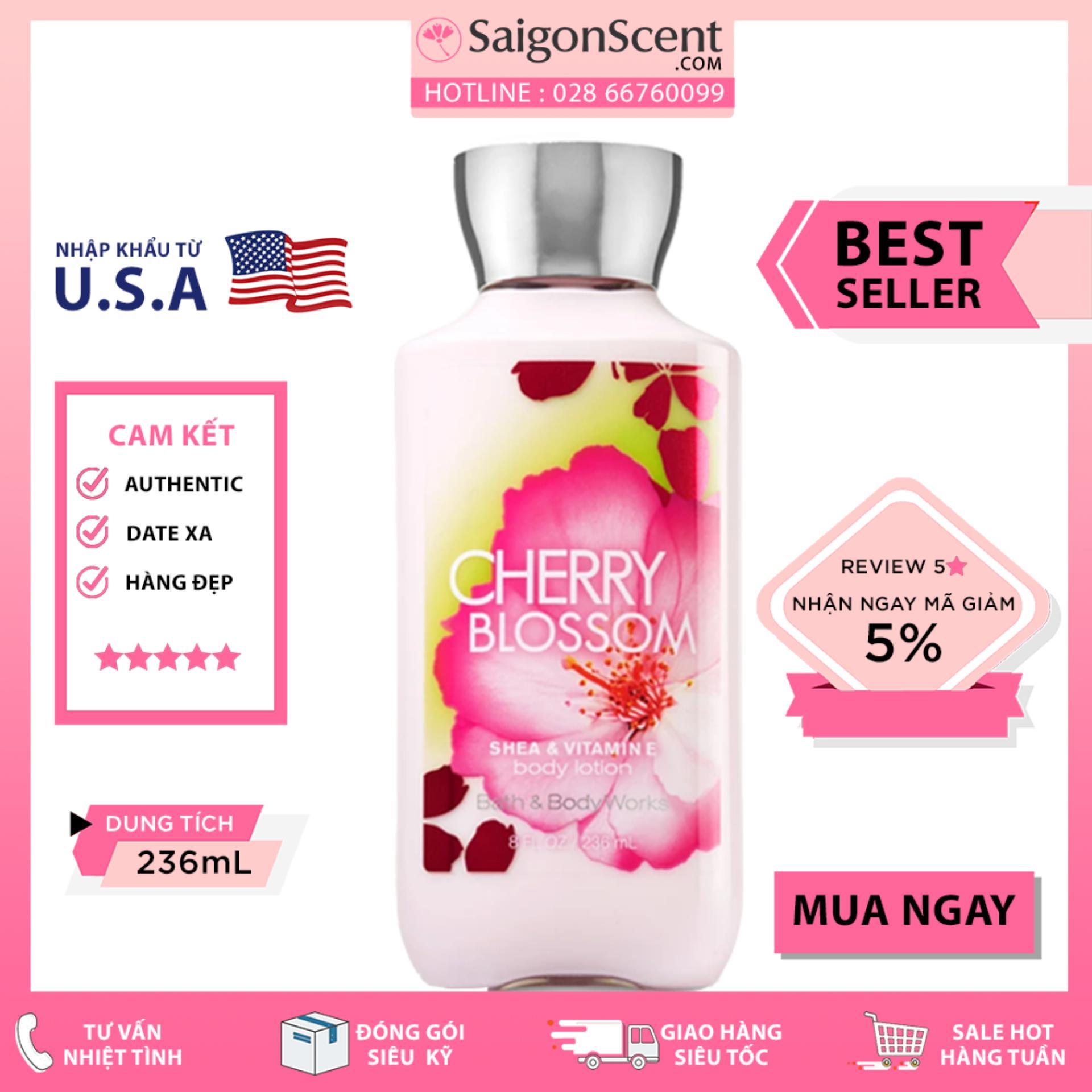 Sữa Dưỡng Thể Bath & Body Works – Cherry Blossom (236ml)