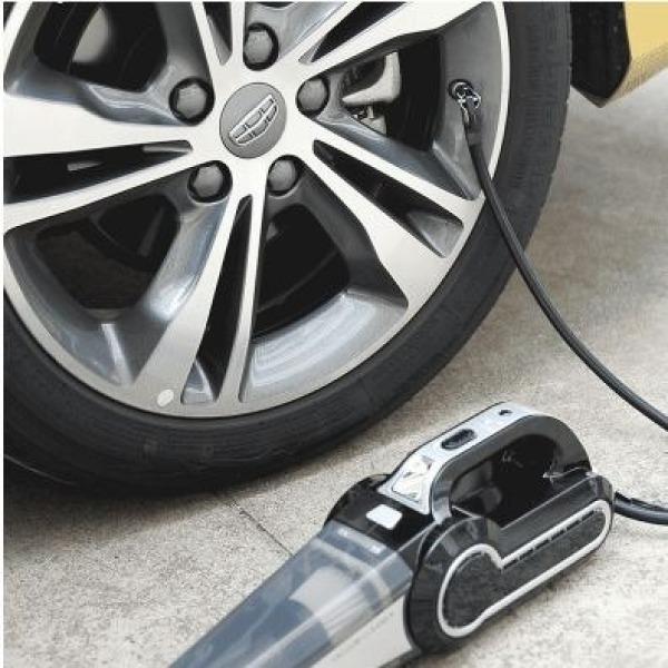 [ Mẫu mới 2020] Máy hút bụi cầm tay kiêm bơm lốp ô tô đa năng 4 trong 1, máy bơm lốp xe hơi kèm hút bụi cao cấp với lực hút lơn 3500mpa, máy hút bụi tích hợp tính năng đèn chiếu sáng và đo áp suất tiện lợi
