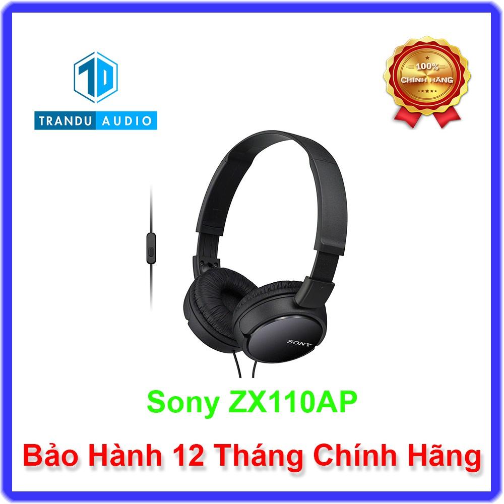 Tai Nghe Chụp Tai Sony MDR ZX110AP Có Mic - Trần Du Audio - Hãng Phân Phối Chính Thức Giá Quá Tốt Phải Mua Ngay