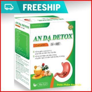 Curcumin An Dạ Detox- Giúp Giảm nhanh các triệu chứng viêm đau dạ dày, viêm loét dạ dày, tá tràng- hộp 20 gói thumbnail