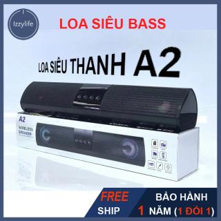 [SIÊU BASS] Loa Bluetooth A2, loa SIÊU THANH A2 âm thanh mạnh, siêu to, chơi nhạc qua bluetooth, cáp, USB, card cùng đèn nhiều màu sành điệu - shop Izzylife thumbnail
