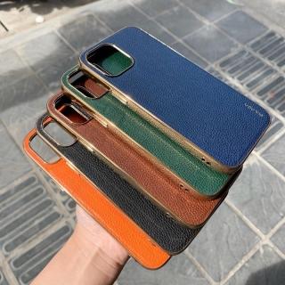 Ốp lưng Sulada vân da sần viền vàng cho iphone 12 PRO MAX 12 12PRO 12 MINI X XS MAX 11 11 PRO MAX siêu sang chính hãng thumbnail
