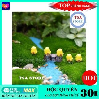 Phụ kiện tiểu cảnh Chú gà con (Combo 3 chú) trang trí tiểu cảnh chậu cây mini terrarium hồ cá bonsai hòn non bộ sen đá xương rồng thumbnail