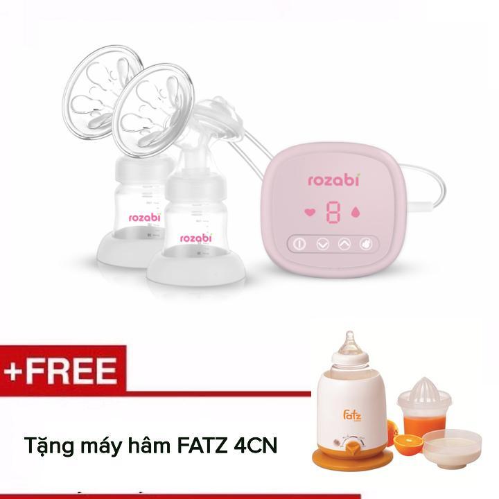 Máy hút sữa điện đôi Rozabi Compact 2018 (Trắng) + Tặng máy hâm FATZ 4CN (không bao gồm pin sạc)