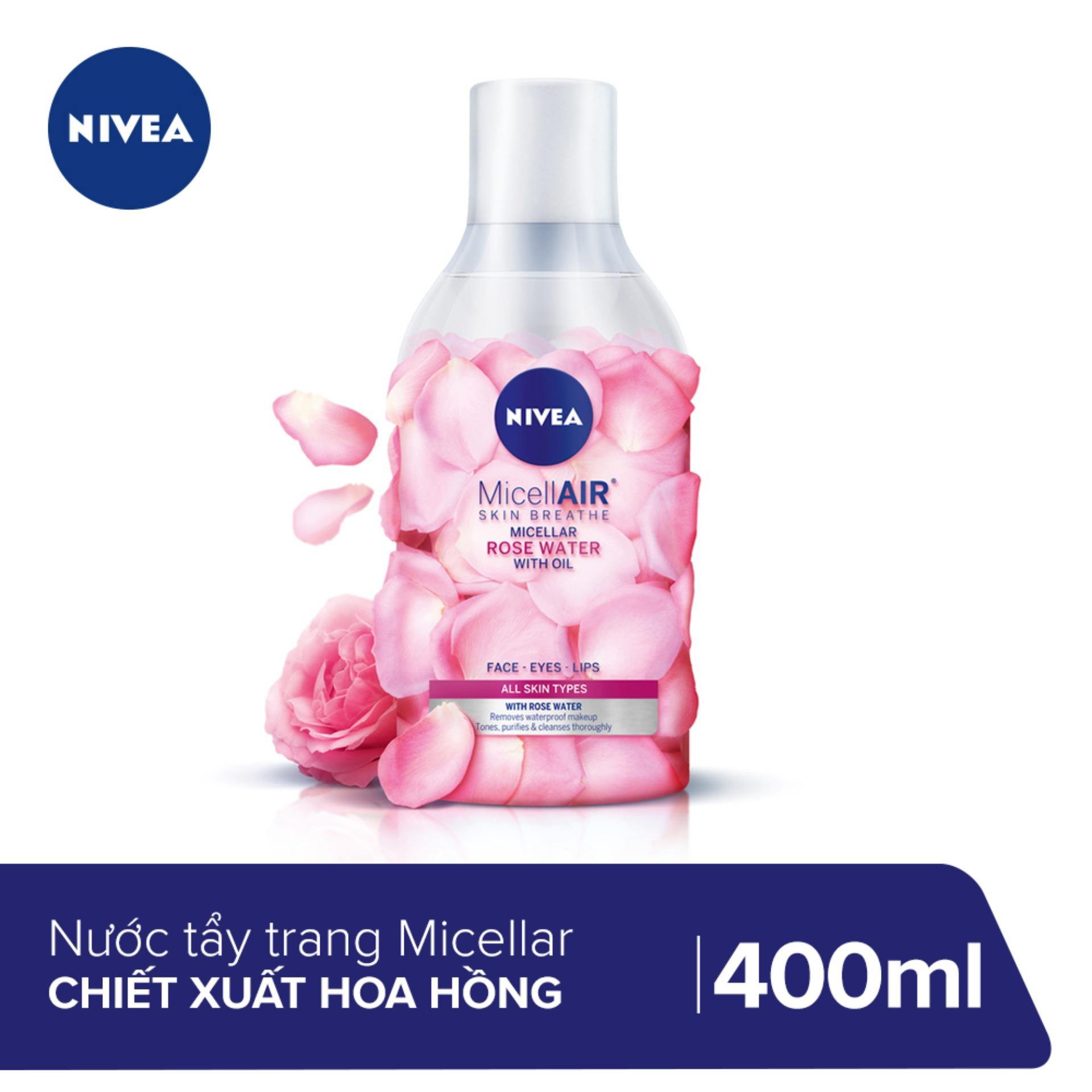 Nước tẩy trang chiết xuất hoa hồng Nivea Micellair Skin Breathe 400ml_82366 tốt nhất
