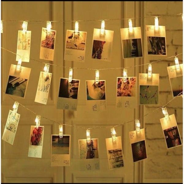 Đèn led trang trí kẹp ảnh3 mét 20 kẹp