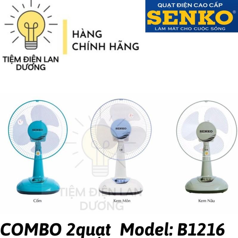 COMBO 2 quạt bàn B3 Senko B1216 - [ MÀU NGẪU NHIÊN ]