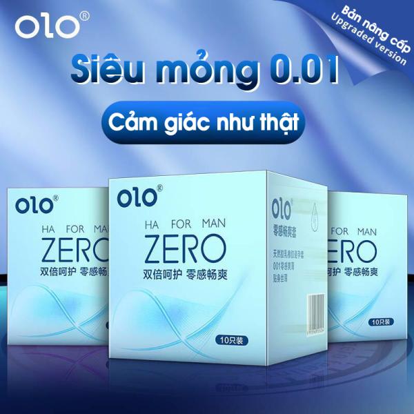 Bao cao su OLO siêu mỏng, kéo dài thời gian, hoạt chất dưỡng ẩm