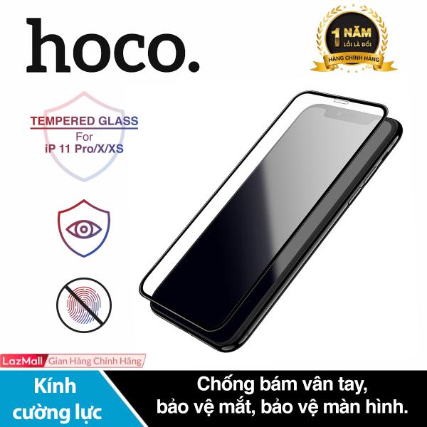 [ Mã giảm giá 60k cho đơn hàng từ 400k ] Kính cường lực Hoco G5 chống bám vân tay bảo vệ mắt độ cứng 2.5D dành cho iPhone 11 Pro/ iPhone X/ iPhone XS
