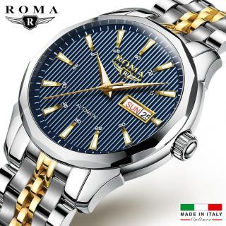 Đồng hồ Nam ROMA ITALY Kính tráng Sapphire Dây CHARM đúc đặt đẳng cấp thumbnail