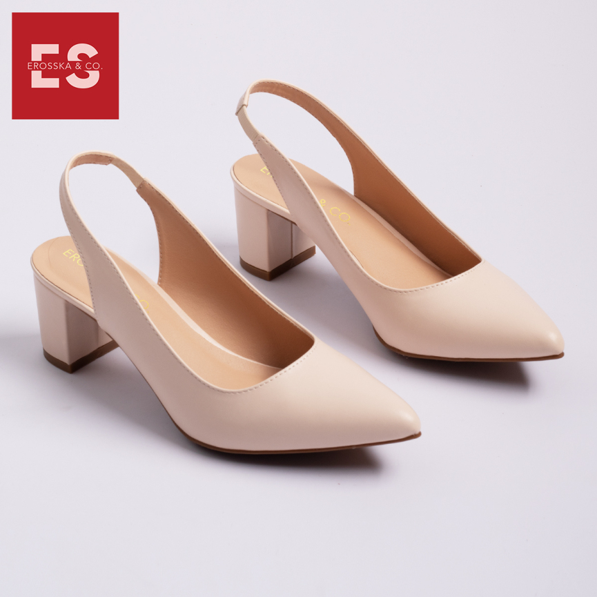 Giày cao gót nữ slingback Erosska thời trang nữ kiểu dáng basic EH015 (BA) giá rẻ