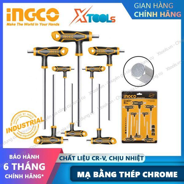 Bộ 8 chìa lục giác đầu bằng tay cầm chữ T HHKT8081 Lục giác đa năng Tay cầm mới Chất liệu Cr-V, Chịu nhiệt và được mạ bằng thép chrome - sản phẩm chính hãng [XTOOLs] [XSAFE]