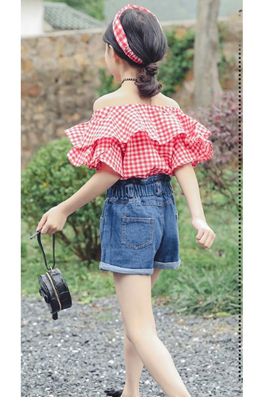 Giá bán combo áo và váy jean cho bé