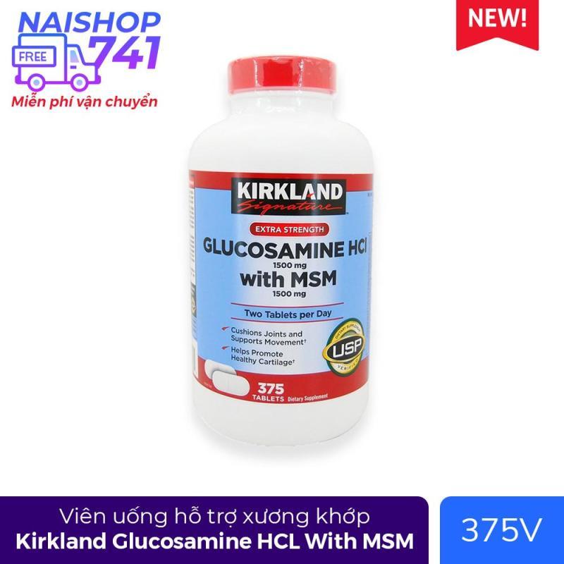 Viên uống hỗ trợ xương khớp Kirkland Glucosamine HCL With MSM (Chai 375 viên) cao cấp