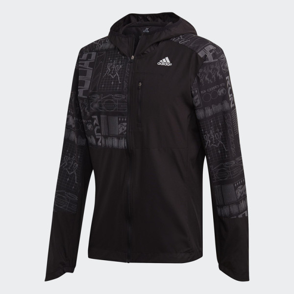 adidas RUNNING Own the Run Reflective Jacket Nam Màu đen FS9811