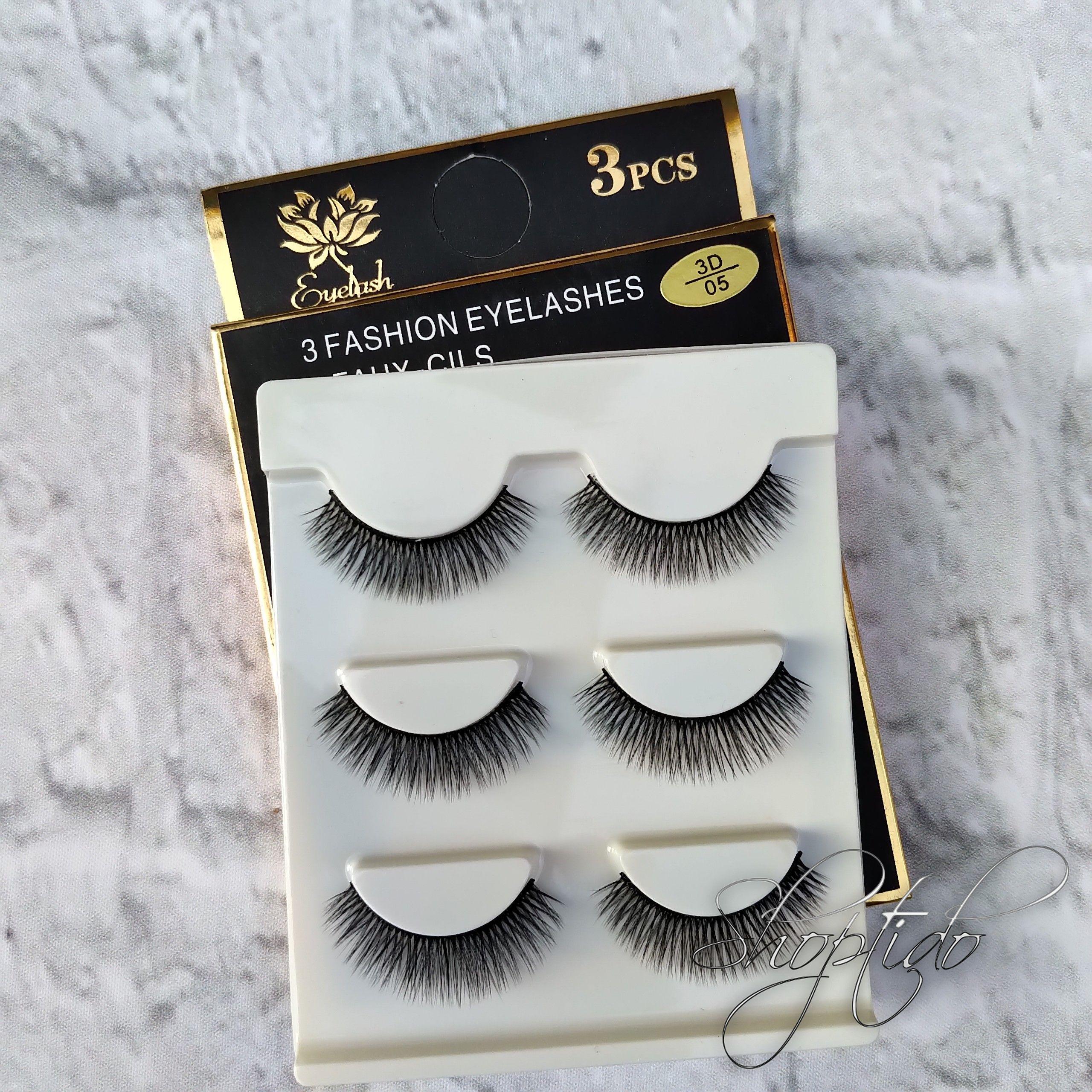 [Có Nhiều Mẫu] Lông mi giả Lông Chồn 3D 3PCS 3 Fashion Eyelashes 3 Faux-Cils ( bộ 3 Cặp ), mi chồn