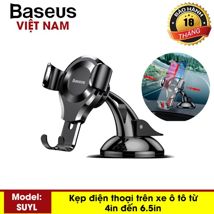 Kẹp điện thoại - Giá đỡ điện thoại trên ô tô, xe hơi gắn taplo Baseus SUYL-XP01 sang trọng hiện đại - Phân phối bởi Baseus Vietnam