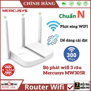 (Bảo Hành 5 Năm) Bộ Phát Wifi Mercusys 3 râu MW305R chuẩn N 300Mbps , Thiết kế nhỏ gọn , cài đặt dễ dàng , Router Wifi Chuẩn N - Router mercusys - kích wifi thumbnail