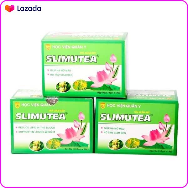 [Liệu trình giảm cân] từ 3 hộp trà sen SLimutea Học Viện Quân Y hạ mỡ máu đánh tan lượng mỡ dư thừa (3 hộp)