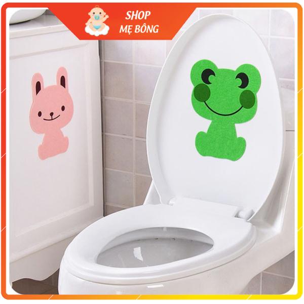Khử mùi nhà vệ sinh - miếng dán khử mùi bồn cầu hình thú keo siêu dính kích thước 23 x 17 cm
