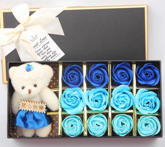 Hoa Hồng 3D Sáp 12 Bông Kèm Gấu Sweet Love - cooldeal VNJ2GESY