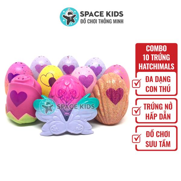 Đồ chơi trẻ em Combo 10 quả Trứng Hatchimals mix nhiều mùa cho bé, hàng made in Việt Nam
