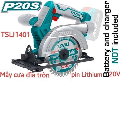 Máy cưa đĩa tròn dùng pin Lithium 20V kKHÔNG GỒM PIN SẠC  Total TSLI1401