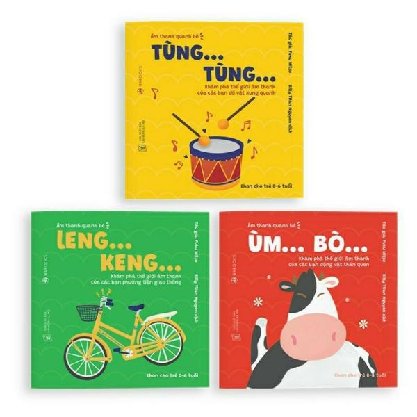 Mua Sách Ehon Wabooks - Combo 3 cuốn âm thanh quanh bé - Dành cho trẻ từ 0 - 6 tuổi.